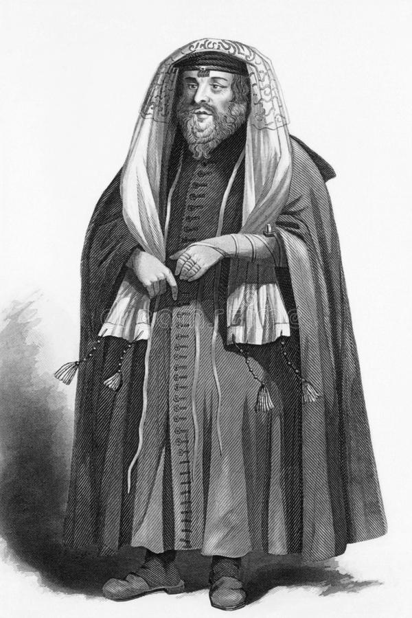 modlitwa ubierający żydowski rabin fotografia royalty free