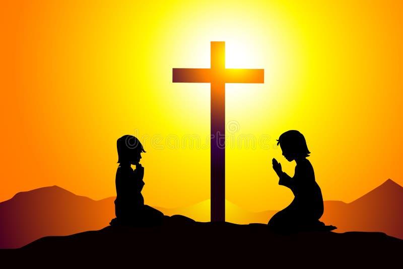 Modlitwa - wektor royalty ilustracja