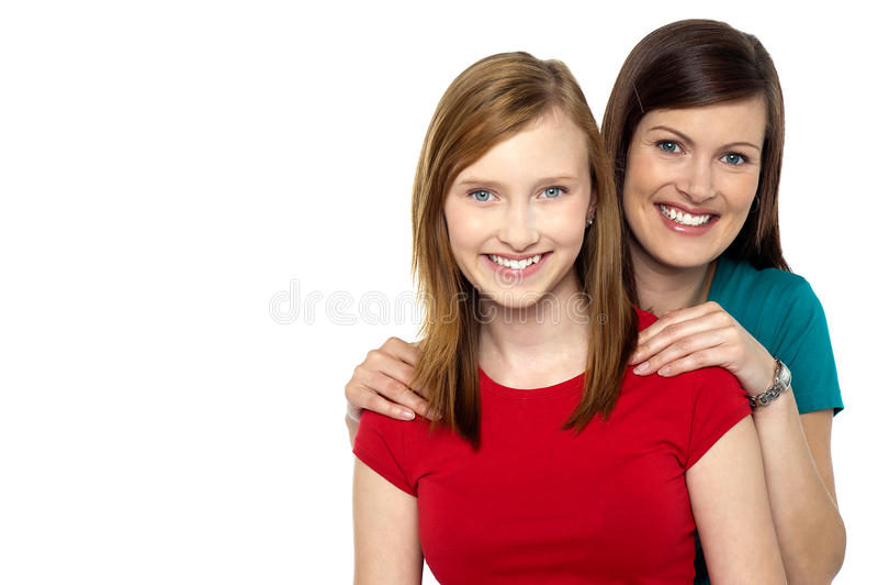 Modna córka i mama obraz stock