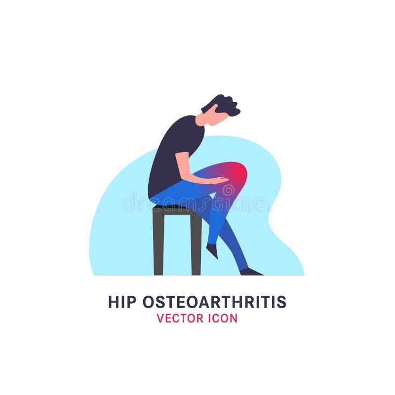 Modna Osteoarthritis ikona ilustracja wektor