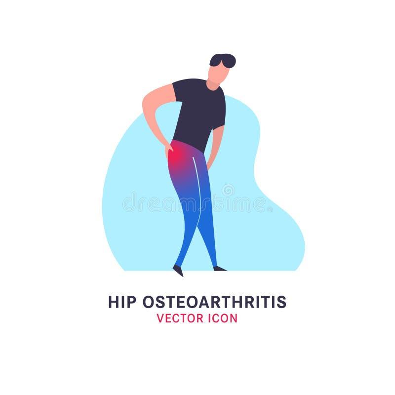 Modna Osteoarthritis ikona royalty ilustracja