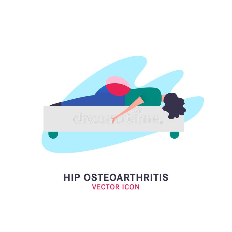 Modna Osteoarthritis ikona ilustracji