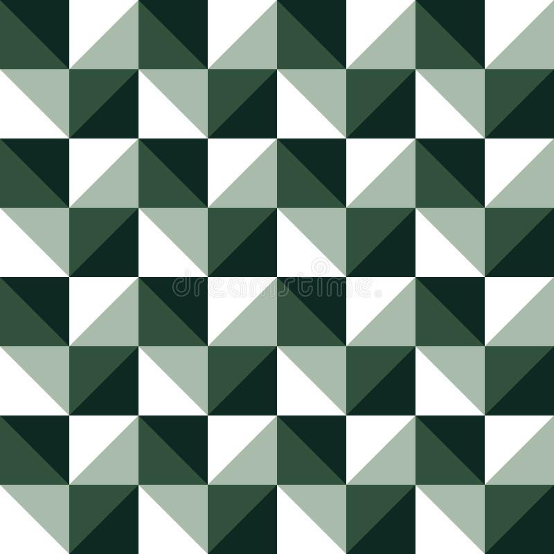 Modna prosta szachowa trójbok ilustracja Kreatywnie, luksusowy obrazu koloru styl, ilustracja wektor