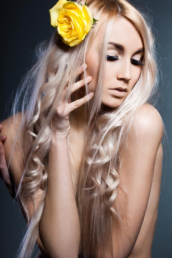 modna różana kobieta fotografia stock