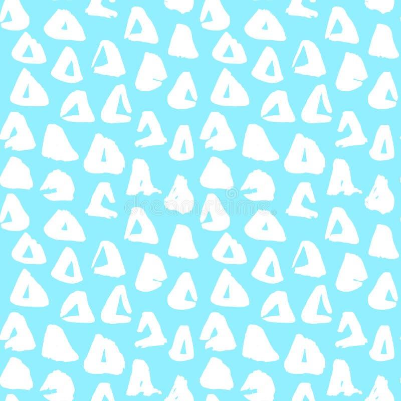 Modnego trójboka Bezszwowy wzór ilustracja wektor