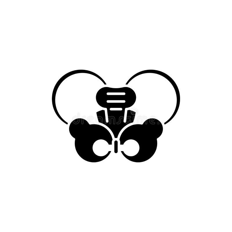 Modnego złącza czerni ikona, wektoru znak na odosobnionym tle Modnego złącza pojęcia symbol, ilustracja ilustracji