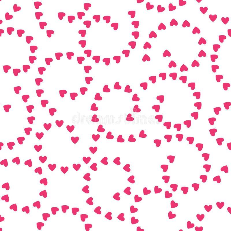 MODNEJ KRĘCONEJ miłości wektoru BEZSZWOWY wzór RÓŻNORODNEGO symbolu GRUNGE sztuki KIEROWA tekstura Walentynka dnia tło ilustracji