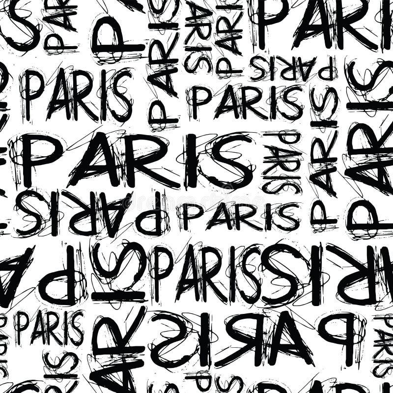 Modnej mody Paris teksta projekta wzoru bezszwowa marynarka wojenna ilustracji