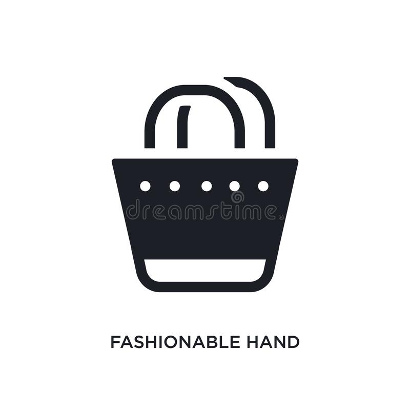 modnej torebki odosobniona ikona prosta element ilustracja od kobiety pojęcia ubraniowych ikon modna torebka editable royalty ilustracja