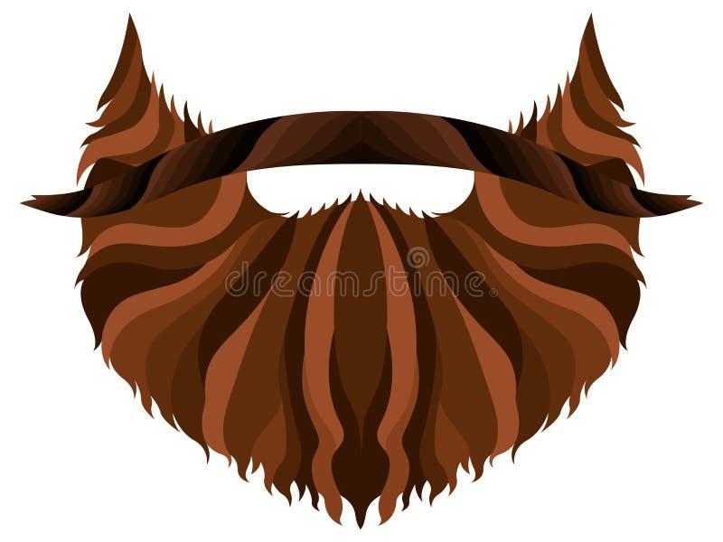 Modniś brody ikona ilustracja wektor