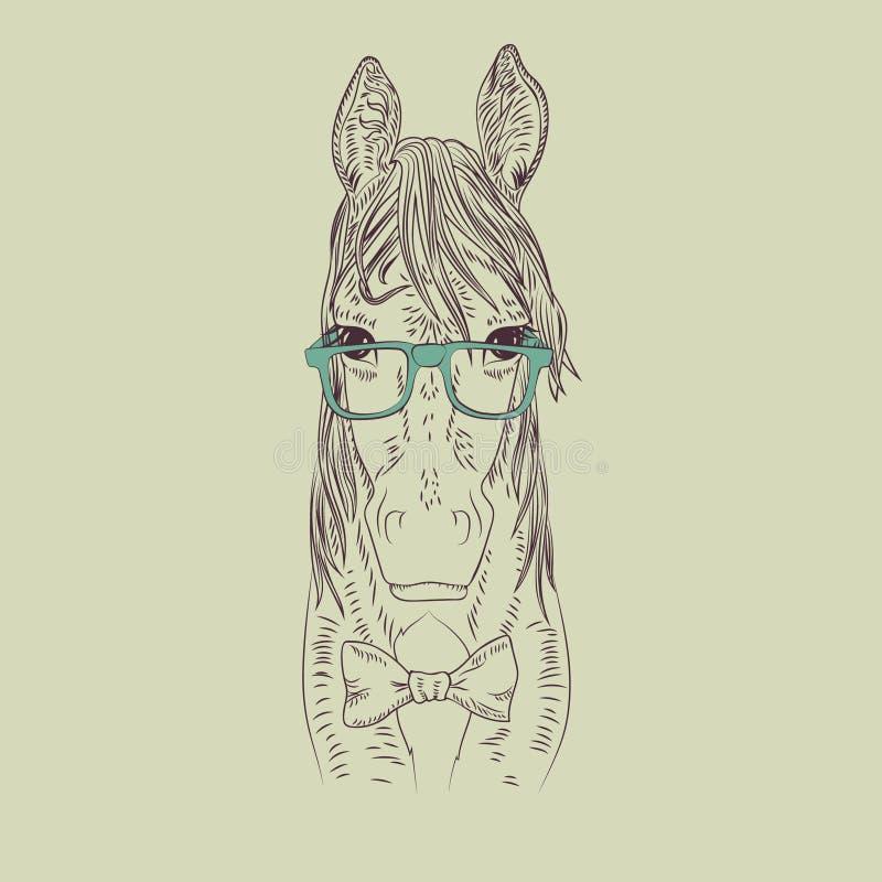 Modniś końska wektorowa ilustracja ilustracji