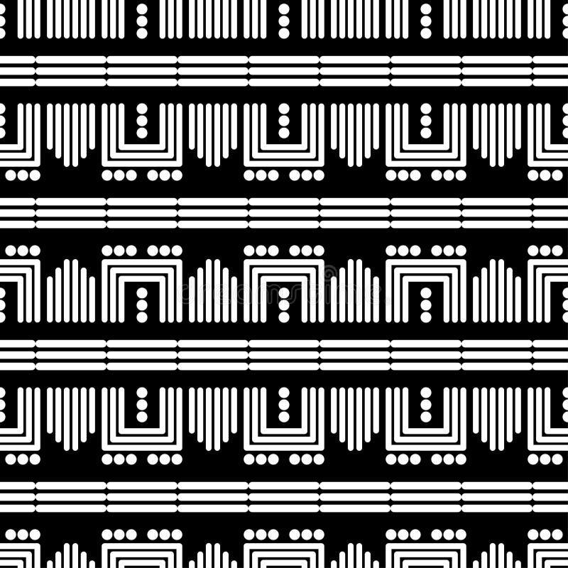 Modni bezszwowi wzor?w projekty Kształty lampasy i polek kropki Wektorowy geometryczny t?o royalty ilustracja