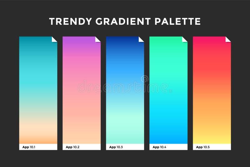 Modni gradientowi swatches ilustracji