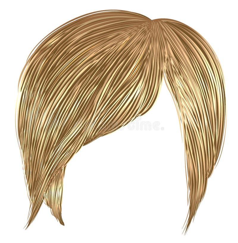 Modni kobiet krótkich hairs blondynów kolory Mody piękna styl royalty ilustracja