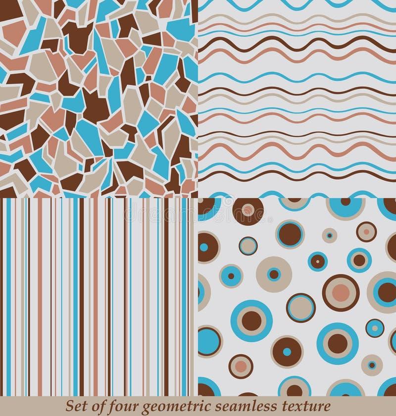 Modni Kolorowi Bezszwowi wzory, kolekcja ilustracji