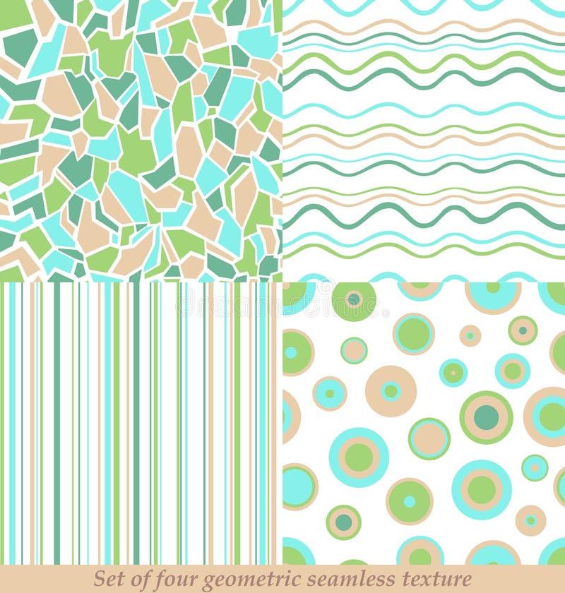 Modni Kolorowi Bezszwowi wzory, kolekcja ilustracja wektor