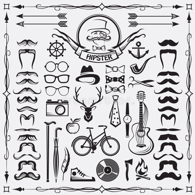 Modnisiów stylowi elementy ilustracji