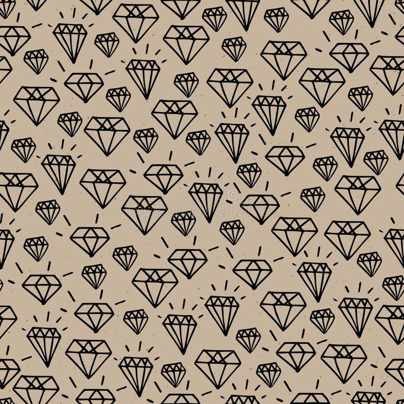 Modnisia diamentu wzór royalty ilustracja