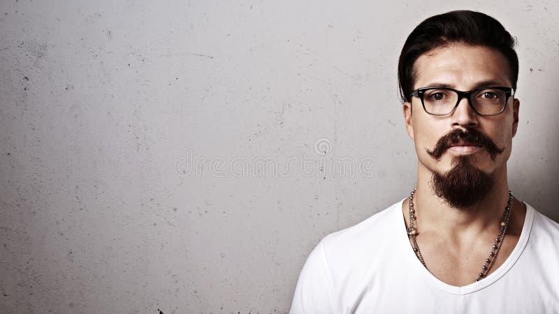 Modnisia facet jest ubranym eyeglasses zdjęcie stock