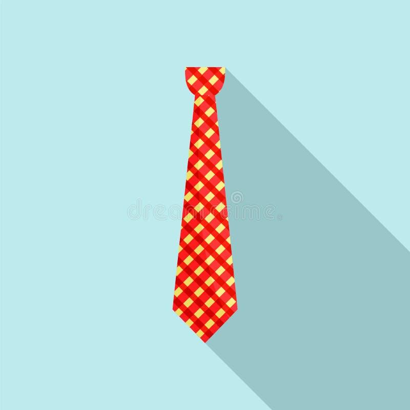 Modnisia krawata ikona, mieszkanie styl zdjęcia stock
