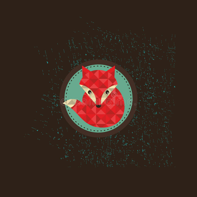 Modnisia lisa emblemat ilustracji
