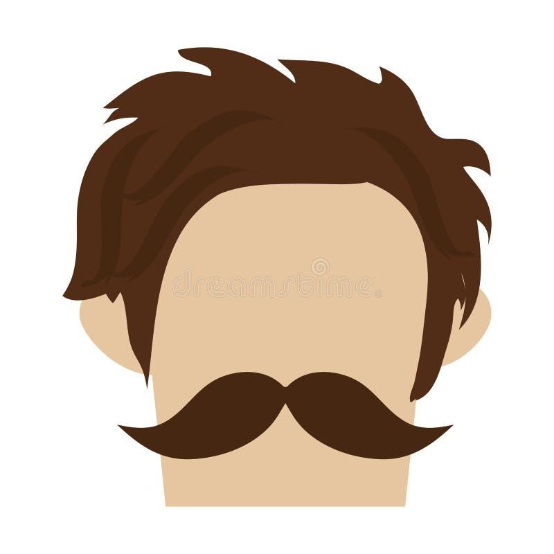 modnisia mężczyzna z wąsy royalty ilustracja