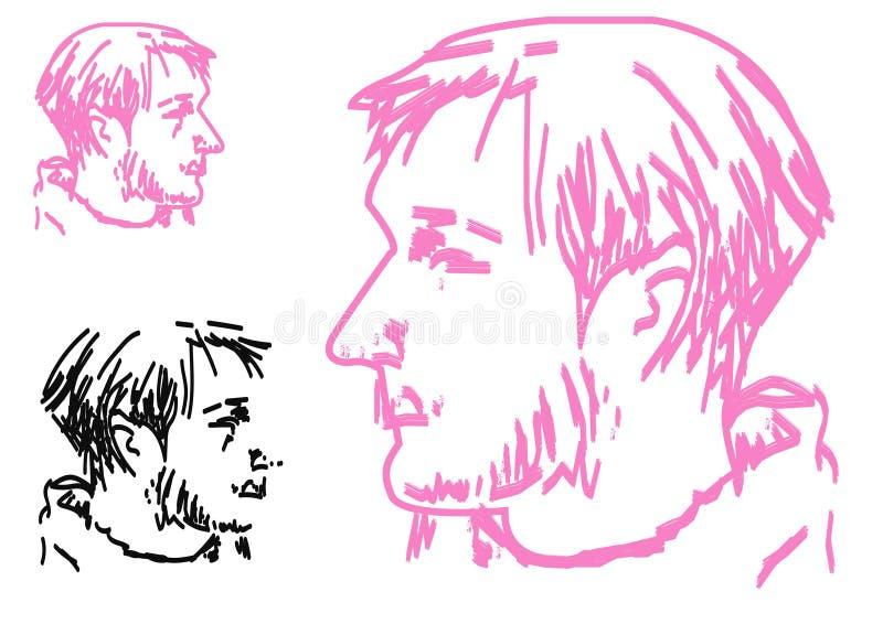Modnisia styl: modni moda mężczyzna Nakreślenie charakter - ustalona Wektorowa ilustracja ilustracji