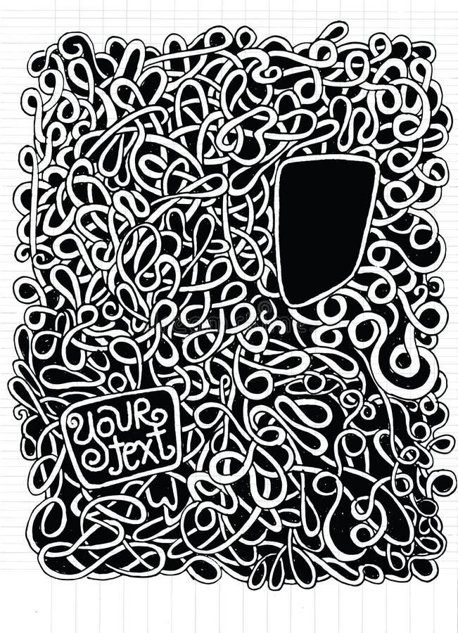 Modnisia wektoru ręka rysujący wzór Abstrakcjonistyczny tło z linią ilustracji