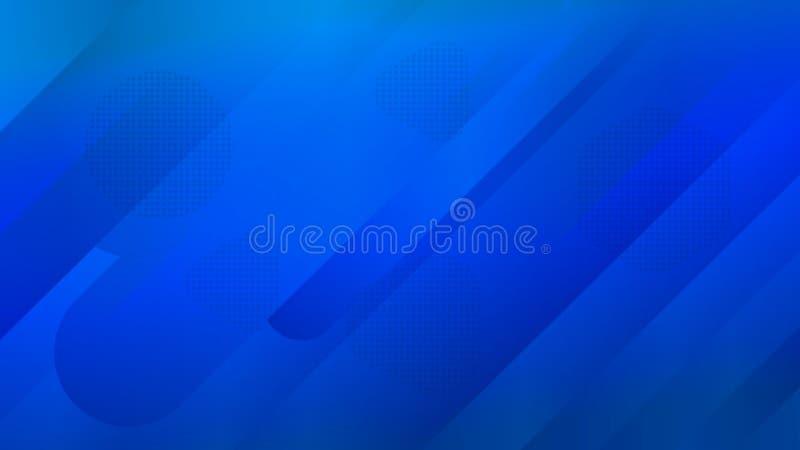 Modnisia wzór z błękitnymi abstrakcjonistycznymi elementami Dla twój domowej wewnętrznej tapety, moda druk również zwrócić corel  ilustracja wektor