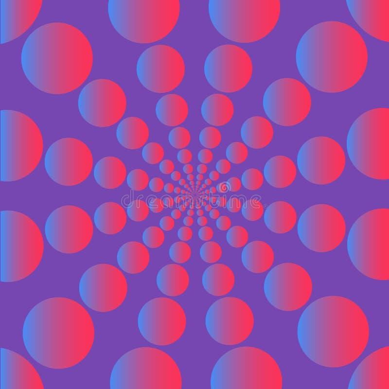 Modny abstrakcjonistyczny projekta szablonu tło z wibrującymi gradientowymi kształtami Dla pokryw, broszurki, ulotki, prezentacje ilustracja wektor