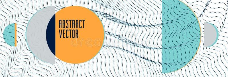Modny abstrakcjonistyczny wektorowy tło, nauka i technika tematu ilustracja, szyk dynamiczne cząsteczki, szablon dla pokryw royalty ilustracja