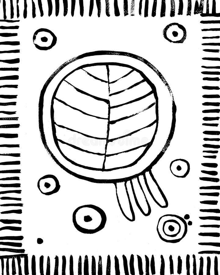 Modny Abstrakcjonistyczny Wewnętrzny Plakatowy tło Drukować royalty ilustracja