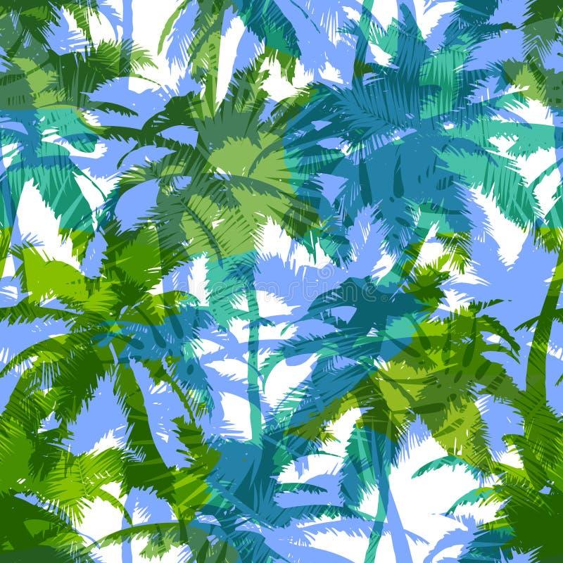 Modny bezszwowy egzota wzór z palmą Nowożytny abstrakcjonistyczny projekt dla papieru, tapety, pokrywy, tkaniny i innych użytkown ilustracja wektor