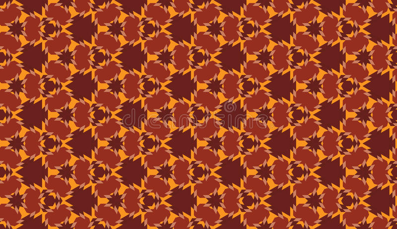 Modny bezszwowy geometryczny wzór z różnymi kształtami brązu i pomarańcze cienie royalty ilustracja