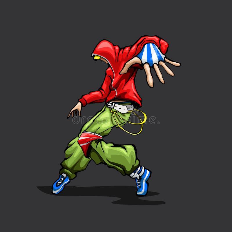 modny dancingowy facet ilustracji