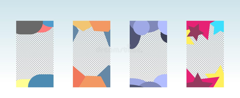 Modny editable szablon dla ogólnospołecznej sieci opowieści ilustracji