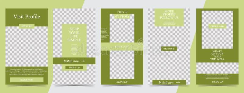 Modny editable szablon dla ogólnospołecznych sieci opowieści, wektorowa ilustracja Projektów tła dla ogólnospołecznych środków royalty ilustracja