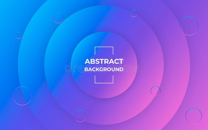 Modny Geometryczny Abstrakcjonistyczny tło Wzór z okregów gradientowymi kształtami Minimalny Graficzny projekt royalty ilustracja