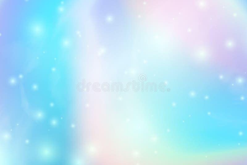 Modny Holograficzny abstrakcjonistyczny tło z gradientową siatką Iryzuje teksturę Wektorowa ilustracja dla twój kreatywnie royalty ilustracja