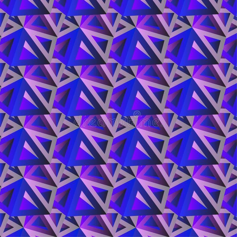 Modny horyzontalny geometryczny tło, trójboka wzoru pole obraz stock