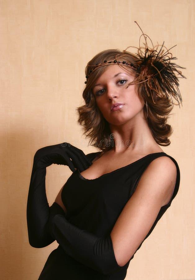 modny kapelusz portret zdjęcie royalty free