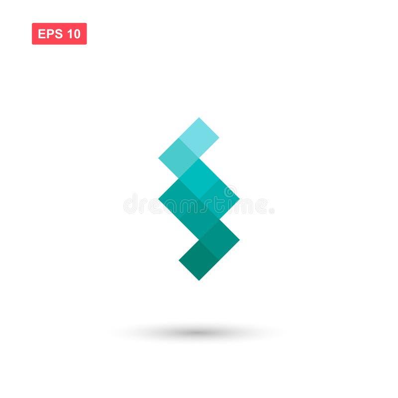 Modny kwadratowy projekta logo wektor odizolowywający royalty ilustracja