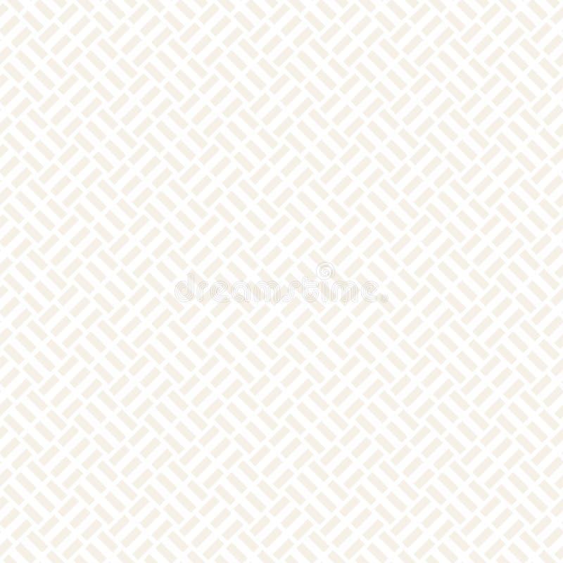 Modny monochromatyczny diagonal wyplata kratownicę Abstrakcjonistyczny geometryczny tło projekt wektor bezszwowy wzoru royalty ilustracja