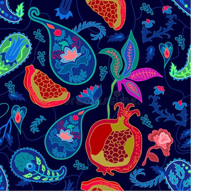 Modny Paisley druk royalty ilustracja