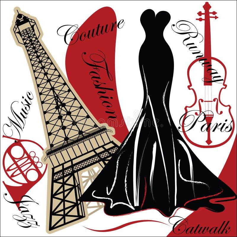 modny Paris royalty ilustracja