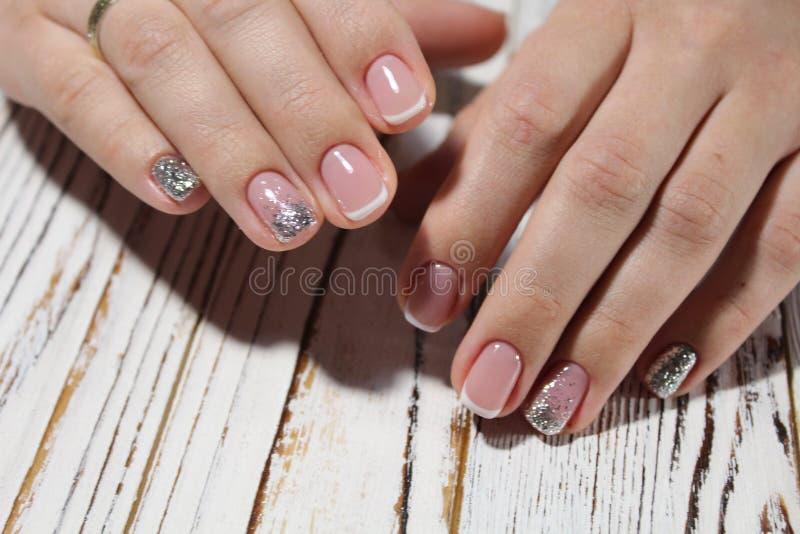 Modny projekt manicure obrazy stock