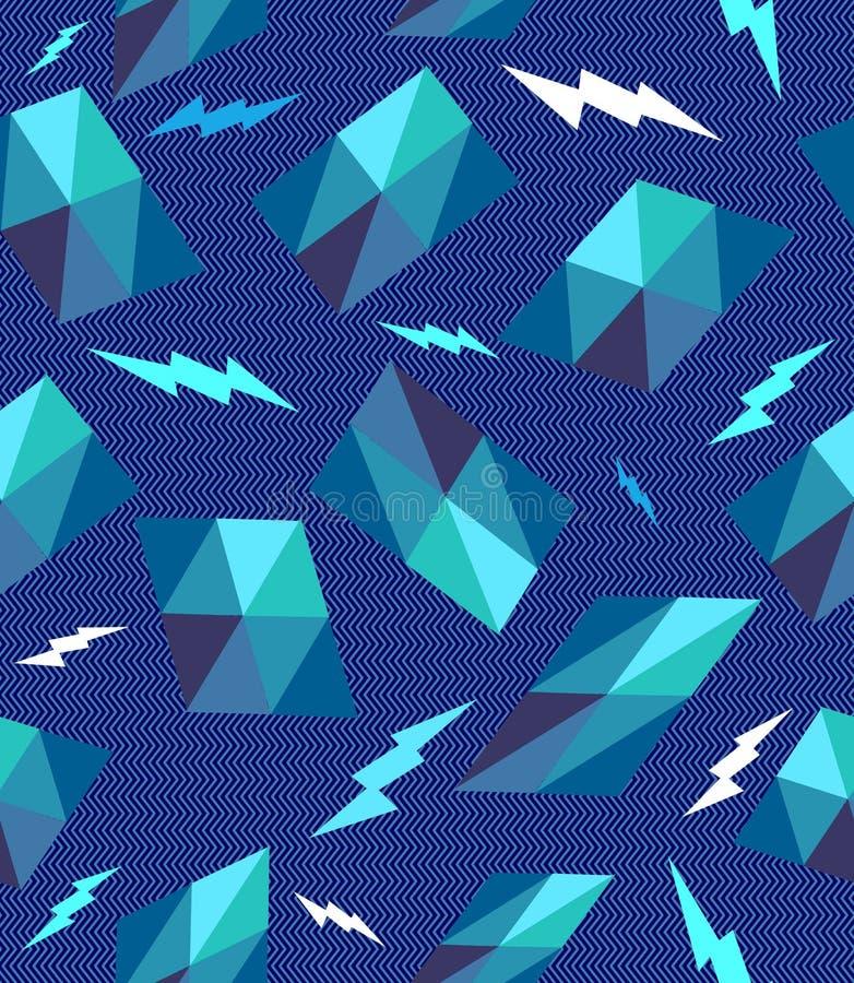 Modny retro geometryczny bezszwowy wzór. royalty ilustracja