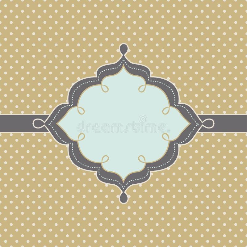 Modny rocznik projektująca odznaka ilustracja wektor