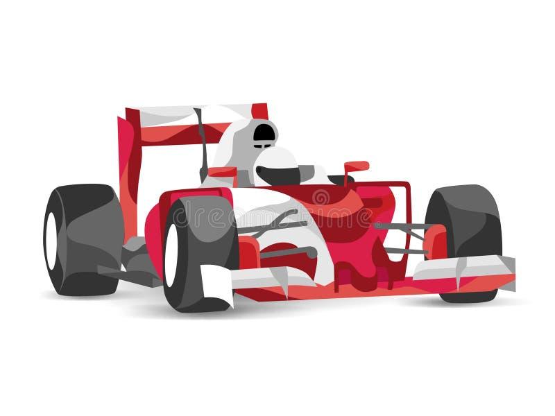 Modny stylizowany ilustracyjny formuła jeden samochód wyścigowy F1 1 royalty ilustracja