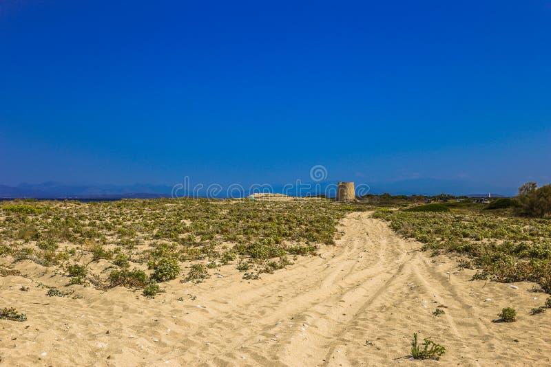Modo al vecchio mulino a vento fotografia stock
